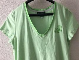 Womens Ralph Lauren Green White Striped Sleep Shirt Short Pajamas Gown S... - $17.81