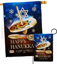 Happy Hanukkah Dreidel - Impressions Decorative Flags Set S114174-BO - $57.97