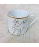 The Rudolph Co Christmas Rudolph Red Nose Reindeer Mug Cup Tea 12 oz Gol... - $9.49