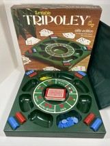 Vtg 1976 Cadaco Turntable Tripoley Elite Edition w/ Mat #255 Poker Party... - $54.40