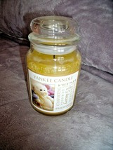 Large Yankee Candle Velvety Soft Jar Candle Baby Powder Scent Teddy Bear Label - $19.75