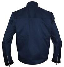 Mens David Collins The Guest Dan Stevens Blue Cotton Jacket image 3