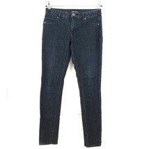 D Jeans Slim Skinny Jeggings Size 8 Mid Rise Dark Blue Stretch - $18.52