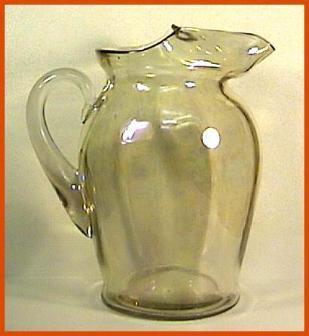 Depression Glass Amber Iridescent Lemonade Pitcher
