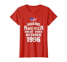 Uncle Shirts -   Make America Great Since October 1996 22nd Birthday Shirt Wowen image 3