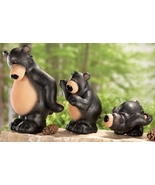 Black Bear Parade Woodland Figurines 3 Pc Set - $21.50