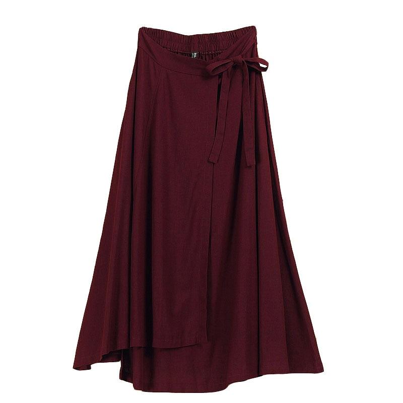 Wrap skirt linen knot 5