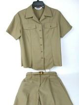 Complete Vintage US Navy 3 Piece Uniform 38 Shirt 28 Pants Belt Costume FUN - $45.47
