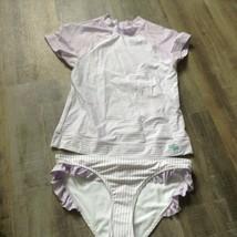 619d5a3a9b Mädchen Sz M Abercrombie Bikini Lycra Badeanzug Set Lavendel Weiß Neu -  $18.32