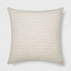 Woven Geo Square Throw Pillow Cream/Neutral - Project 62 new in plastic -(store)