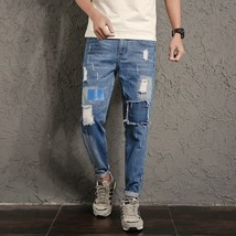 2018 New Arrivals Hip Hop Style Jeans Men Pants Big Patch Ripped Jeans M... - $41.82