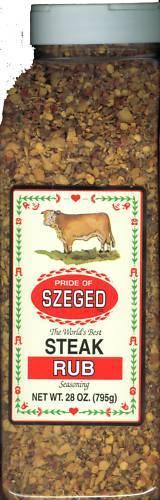 SZEGED Hungarian Meat Rubs-Chick, Rib, Steak & Fish - Large  Restaurant Size