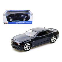 2010 Chevrolet Camaro RS SS Dark Blue with Silver Wheels 1/18 Diecast Mo... - $46.47