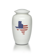 Large/Adult 220 Cubic Inch Alloy Funeral Cremation Urn w/ Texas-Shaped A... - $149.99