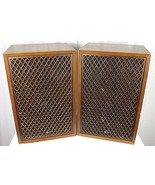 RARE VINTAGE PAIR OF SANSUI SP-55A  2 WAY 2 SPEAKER SYSTEM IN WOOD CABINET - $495.00