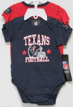 Nfl Nwt Infant ONESIE-SET Of 2- Houston Texans 18 Months - $26.95