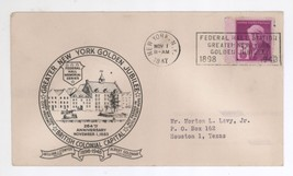 1947 NY Golden Jubilee British Colonial Cap Cover! Federal Hall Postmark... - $3.99