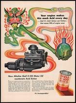 Vintage magazine ad SHELL MOTOR OIL from 1952 acid demon Artzybasheff artwork - $12.99