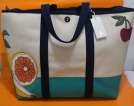 TORY BURCH Penn Applique Tote, Shoulder Bag, Natural, 51159603, $350 - $228.00