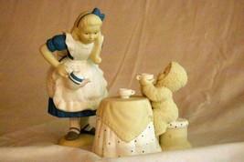 Dept 56 2000 Snowbabies Tea For Two Alice In Wonderland 2 Piece Figure Set - $27.71