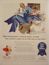 1944 PBR PABST BEER BLUE RIBBON TOWN BUTLER SQUIRE ROBERT O REED Print Ad - $9.99
