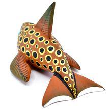 Handmade Alebrijes Oaxacan Wood Carved Painted Orca Killer Whale Figurine image 3