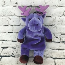 Fashy Purple Moose Warm Water Bottle Buddy Carrier Stuffed Animal Comfor... - $24.74