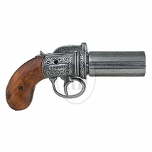 RE-ENACTORS REPLICA REPRODUCTION British Pepperbox Revolver - Grey non-f... - $79.95