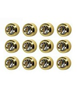 Caflon Surgical Regul 4mm Ear piercing Earrings studs 12 pair April Gold... - $18.95