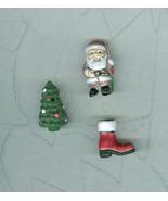 3 Peruvian Folk Art Porcelain Christmas Beads Charms Pendants Miniatures - $7.50