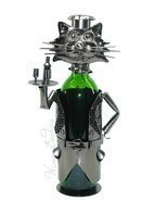 High Quality Genunie Hand Made Caddy Cat Waiter Metal Wine Bottle Holder... - $44.94 CAD