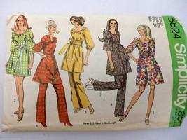 Vintage 1970 Simplicity Pattern Dress & Pants 2 Lengths Coolest Sleeves ... - $21.34