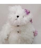Snowman Snowy Teddy Bear Stuffed Animal Plush Boyds Bears White Lavender... - $14.99