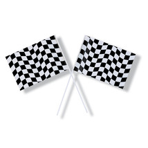 Black/White Check 6.25 x 9.5 Plastic Flag/Case of 48 - €50,50 EUR