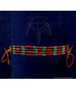 Cherry Horn Hairpipe w/ Turquoise & Brass Choker - $23.17
