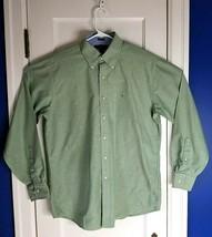 Tommy Hilfiger Mens Heritage Oxford Dress Shirt Size 16 Large Green  - $11.30