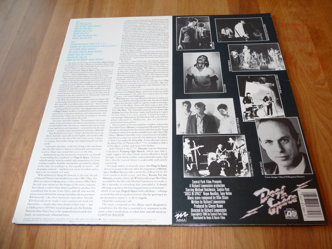 Dogs In Space Soundtrack Lp Iggy Pop Eno Inxs Gang Of Four Nick Cave