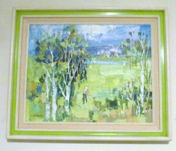 1970's RARE C. Harper Original Acrylic Framed Oil Painting Signed - $649.99