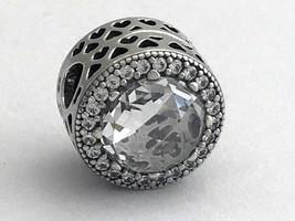 Originale Pandora Splendente Cuori Clip W/Zircone Cubico Trasparente 796239CZ - $93.98