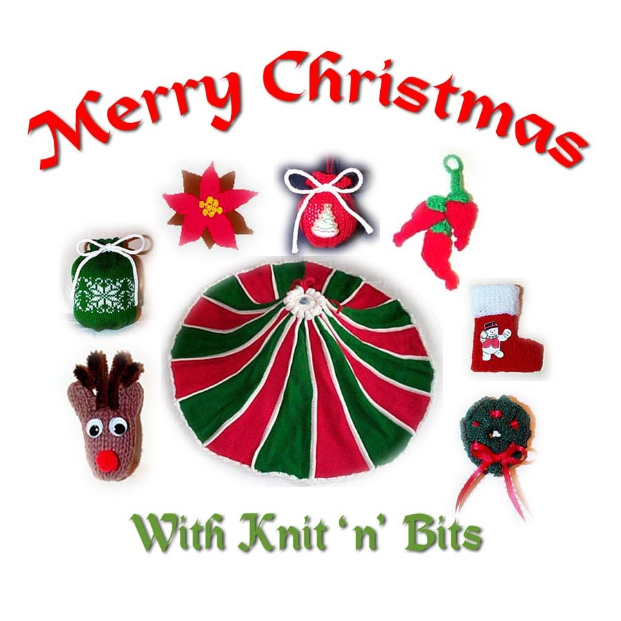 Knit n Bits Merry Christmas Machine Knit Patterns