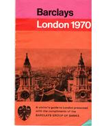 Barclays London Map- Vintage 1970 - $4.90