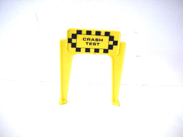 Vintage Ideal Motorific Torture Track Slot Car Crash Test Sign by Ideal Toy - $8.90