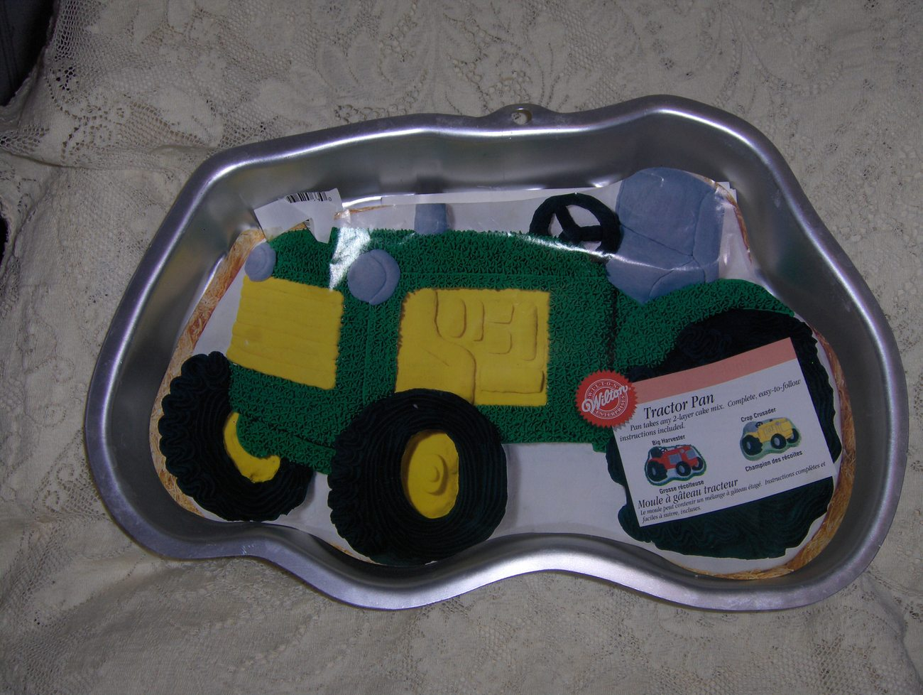 Tractor Cake Pan : Wilton retired tractor cake pan with insert and booklet