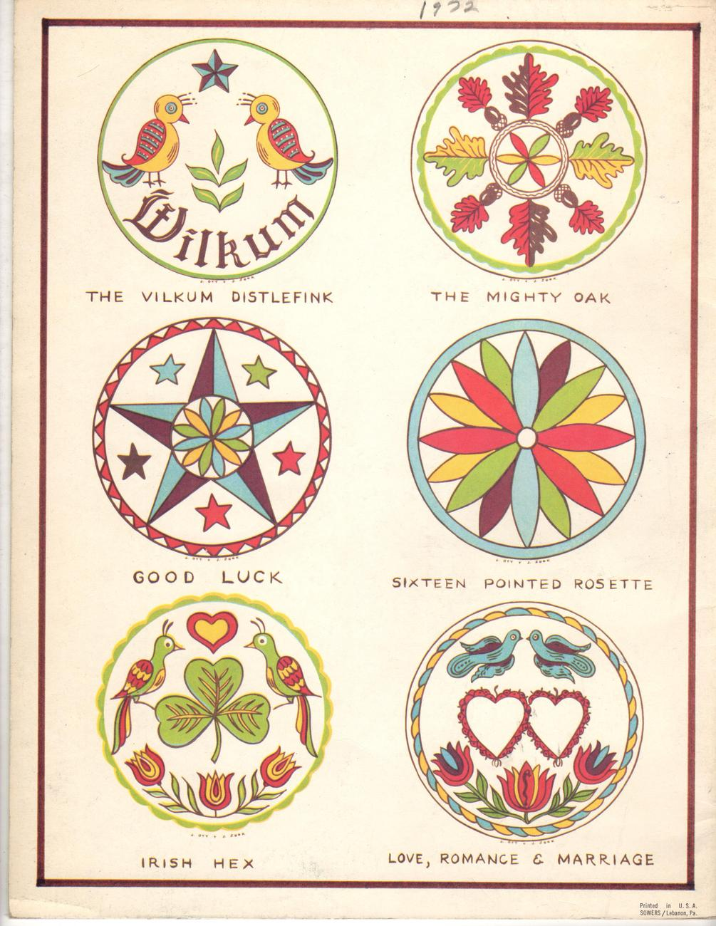 Tthe History and the Meaning of the Hex Symbols. by Jacob and Jane Zook and Hexo