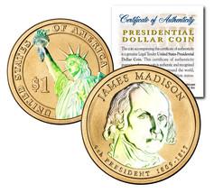 HOLOGRAM 2-sided 2007 JAMES MADISON Presidential $1 Dollar U.S. Presiden... - $8.86