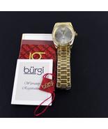 Women's Burgi BUR194YG Swiss Swarovski Stainless Steel Gold Tone Bracele... - $38.61