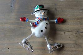 Vintage Danecraft Enamel Snowman Brooch Size: 6 x 5 cm - $10.69