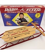 Radio Flyer Christmas Decor Doll Little Wood Sled 551 New in Open Box 16... - $25.95