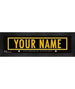 """Personalized Pittsburgh Steelers Stitched Team Jersey 8"""" x 24"""" Framed Print - $38.50"""