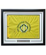 Justin Rose Signed Framed 30x20 Yellow Memorial Tournament PGA Golf Flag... - $277.19